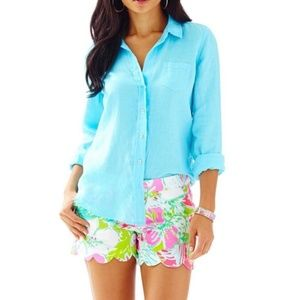Lilly Pulitzer Anna Maria Button Up Blouse